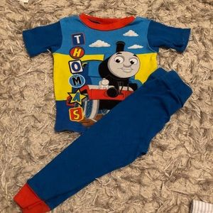 Thomas the choo choo train pajama top and bottom